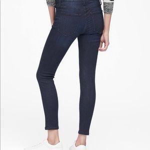 Banana Republic High Rise Dark Wash Skinny Jeans